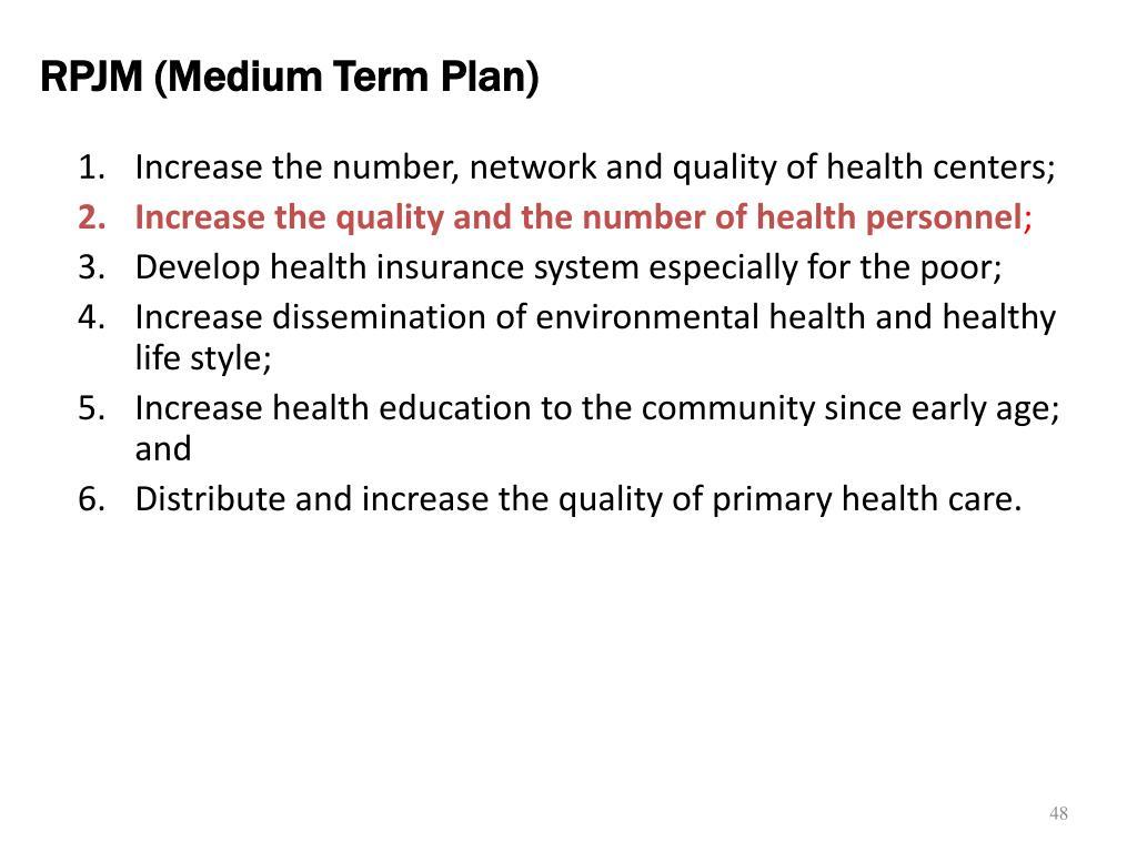 RPJM (Medium Term Plan)