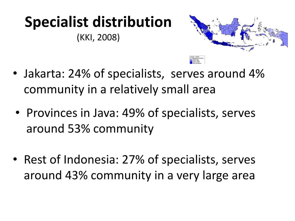 Specialist distribution