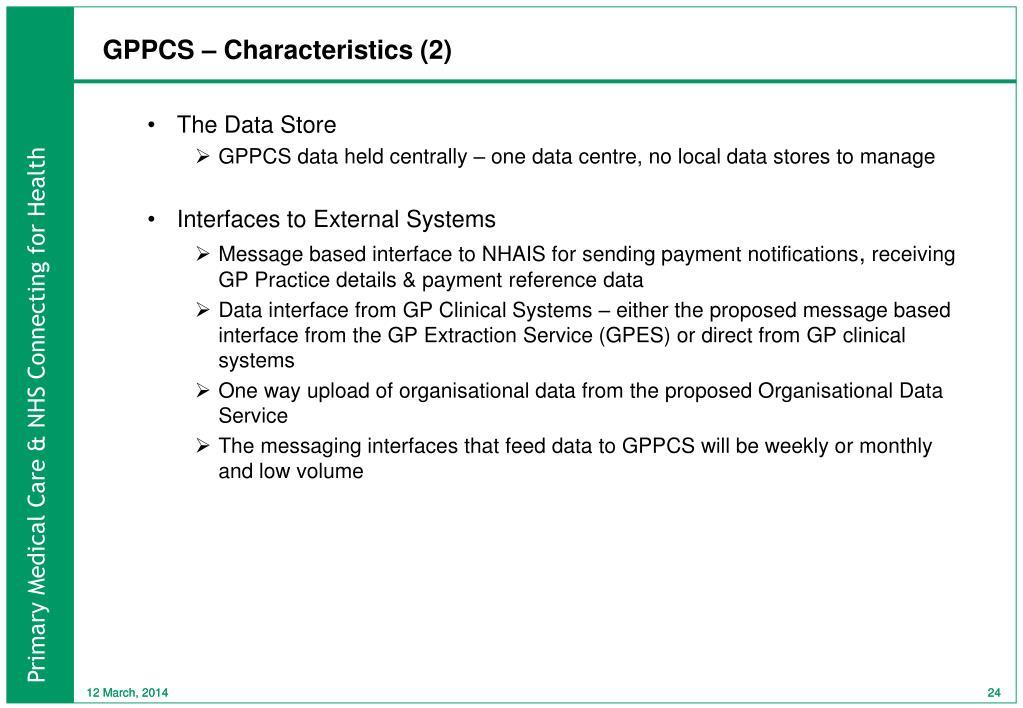 GPPCS – Characteristics (2)