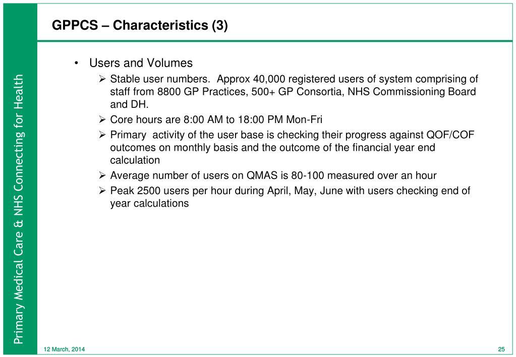 GPPCS – Characteristics (3)