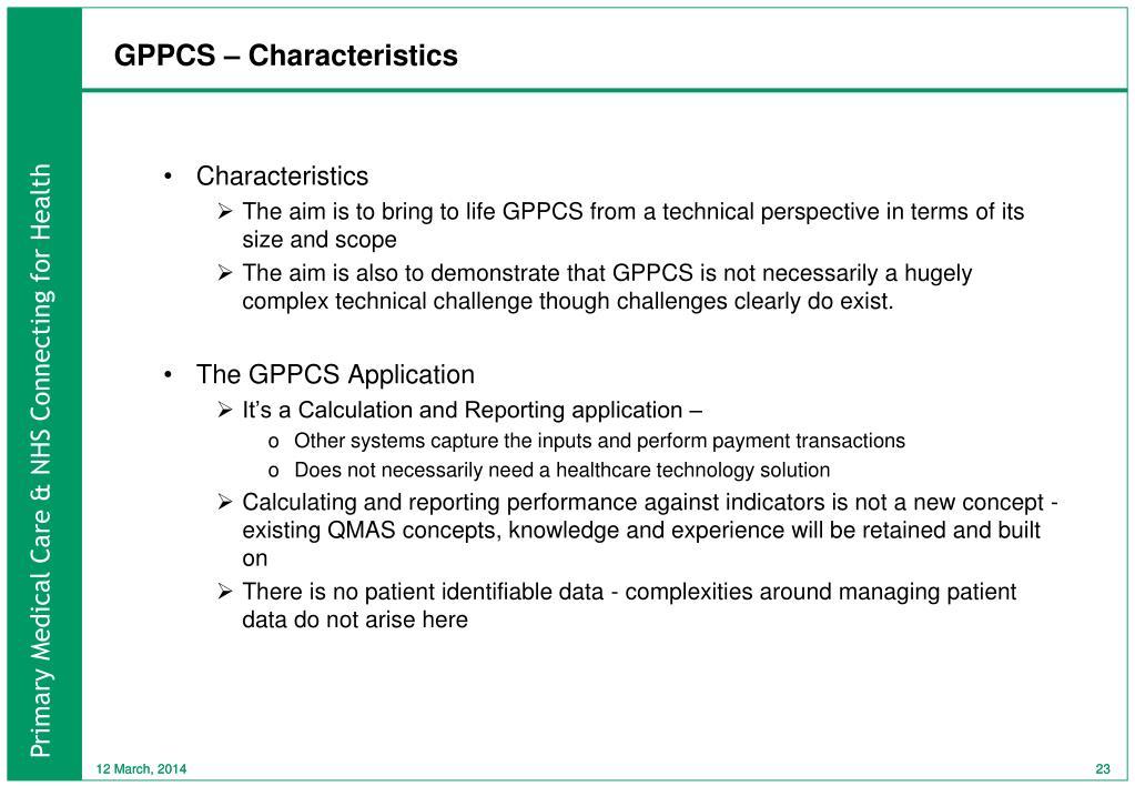 GPPCS – Characteristics