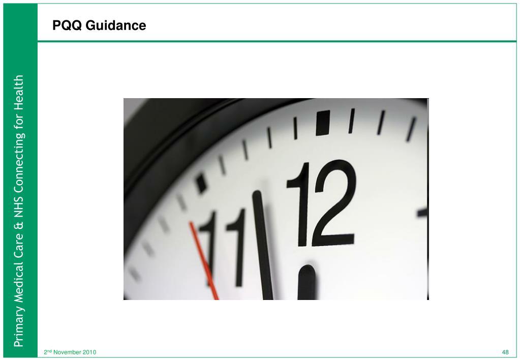 PQQ Guidance