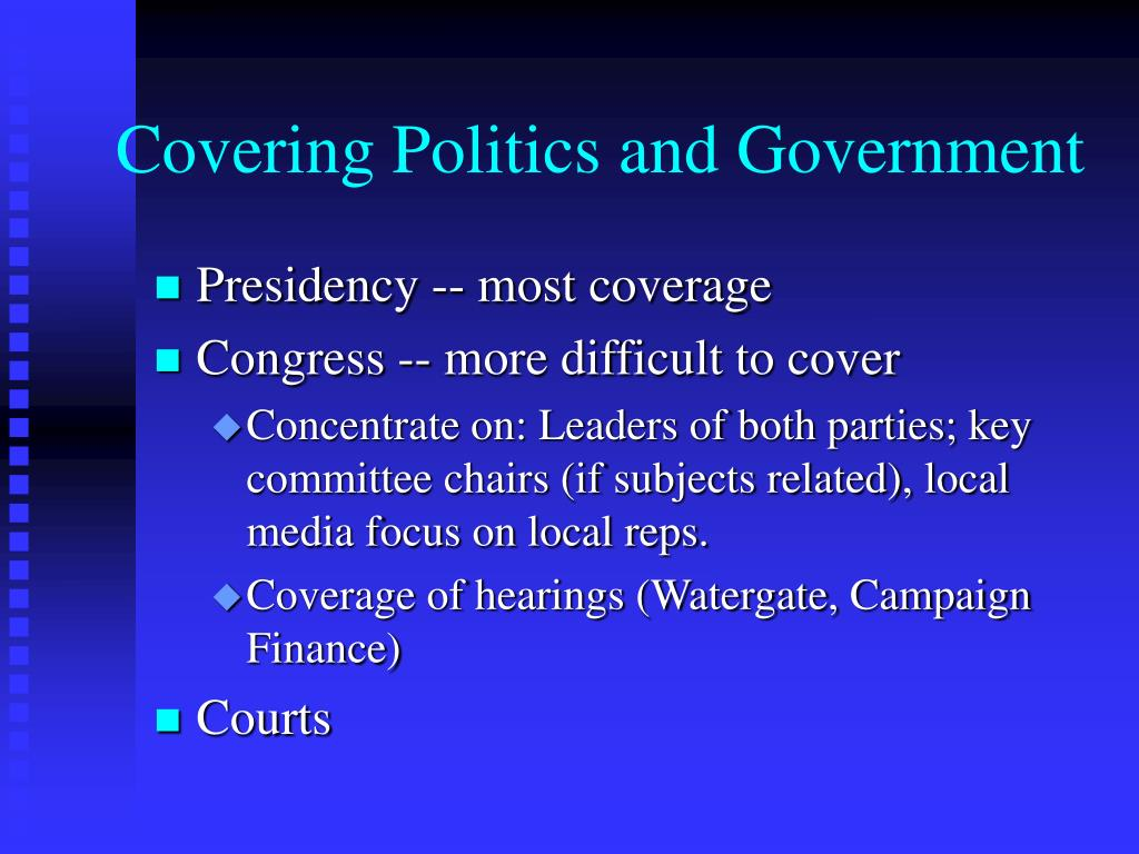 Covering Politics and Government