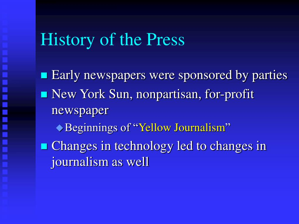 History of the Press