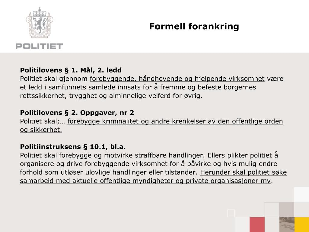 Formell forankring