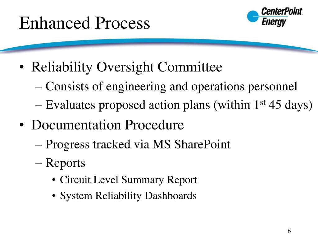 Reliability Oversight Committee