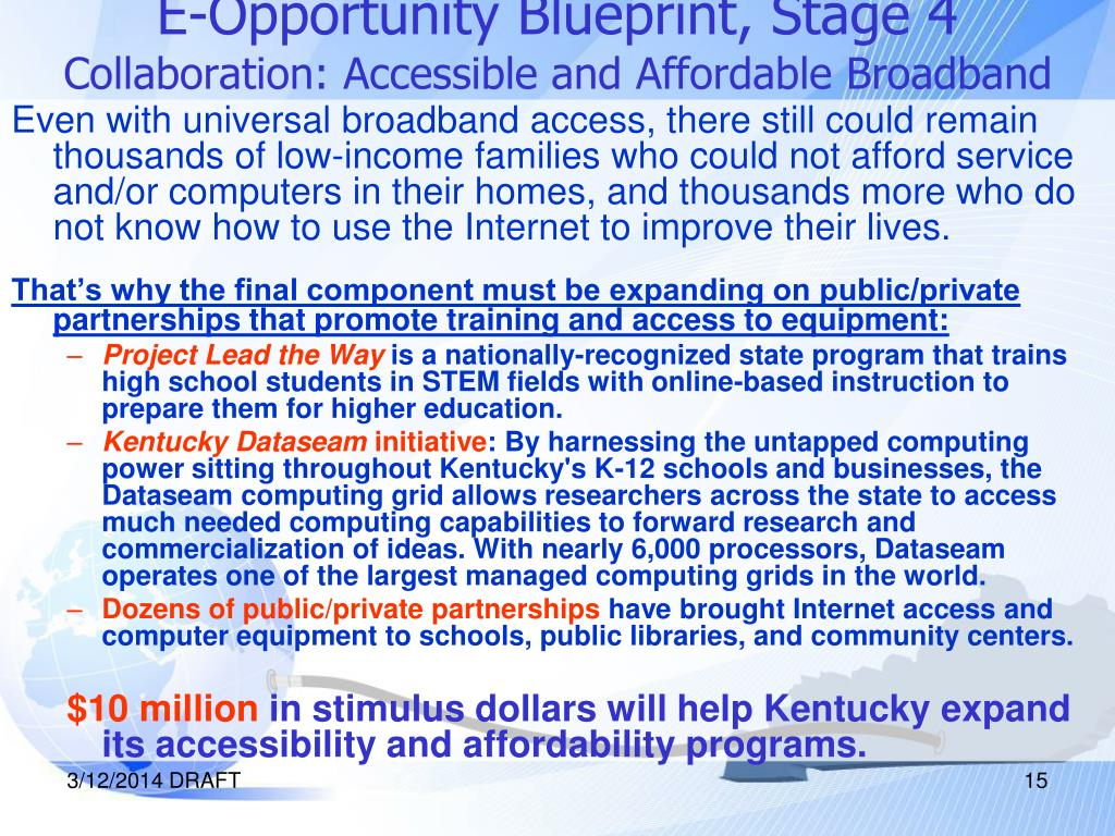 E-Opportunity Blueprint, Stage 4