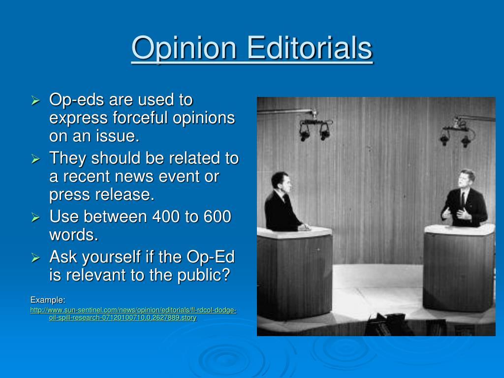 Opinion Editorials