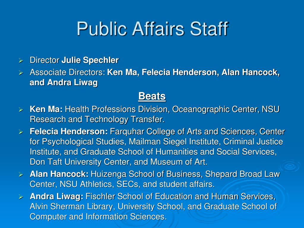 Public Affairs Staff