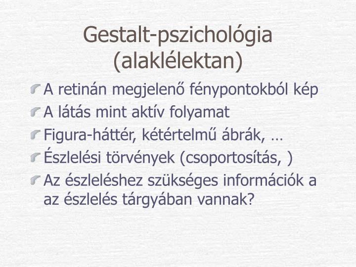 Gestalt-pszichológia (alaklélektan)