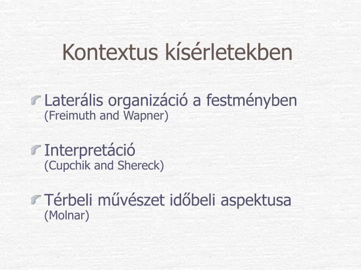 Kontextus kísérletekben