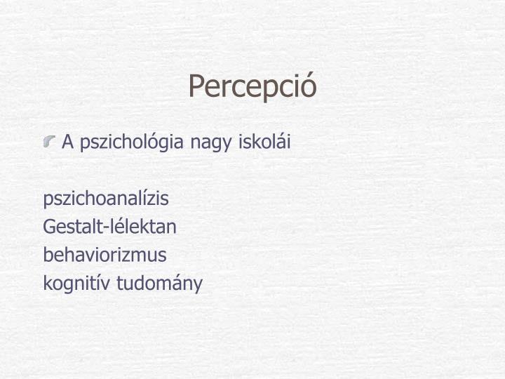 Percepció
