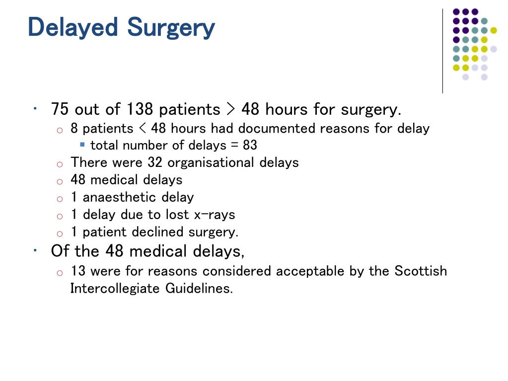 Delayed Surgery