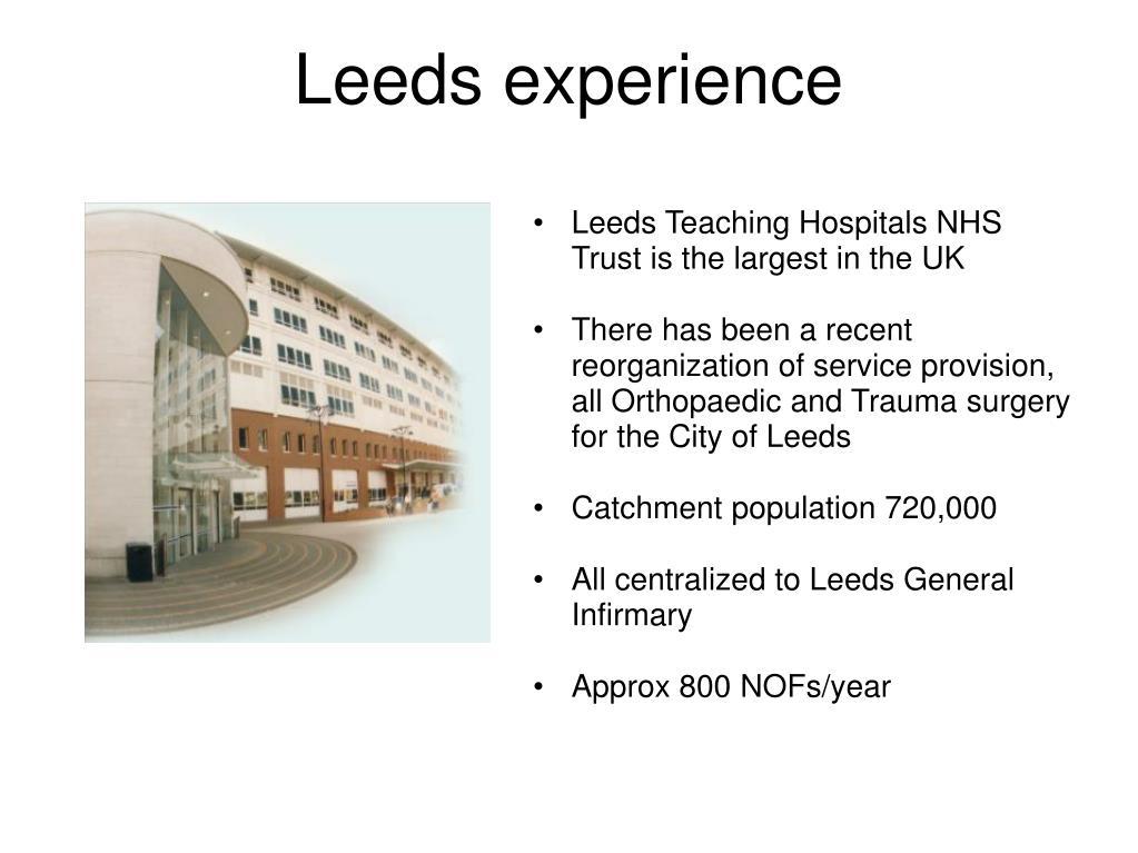 Leeds experience