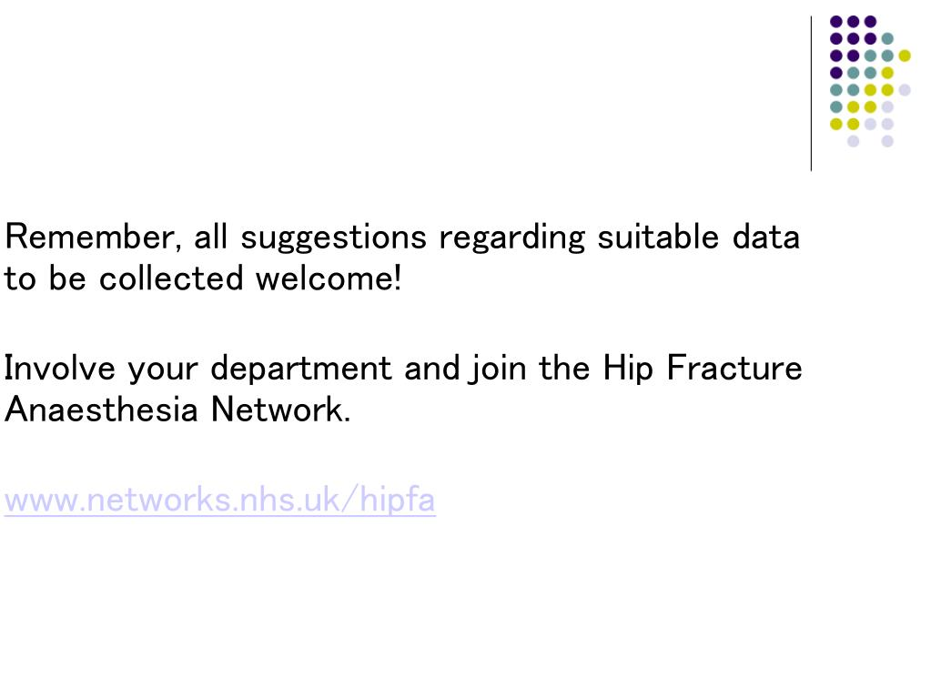Remember, all suggestions regarding suitable data to be collected welcome!