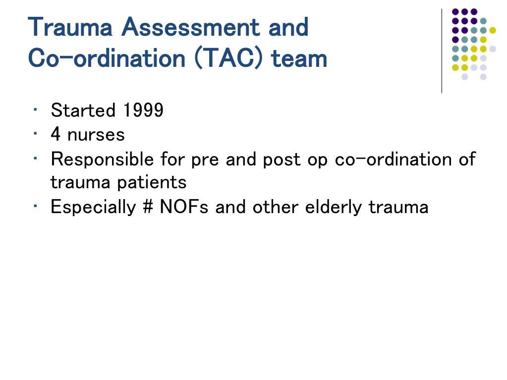 Trauma Assessment and
