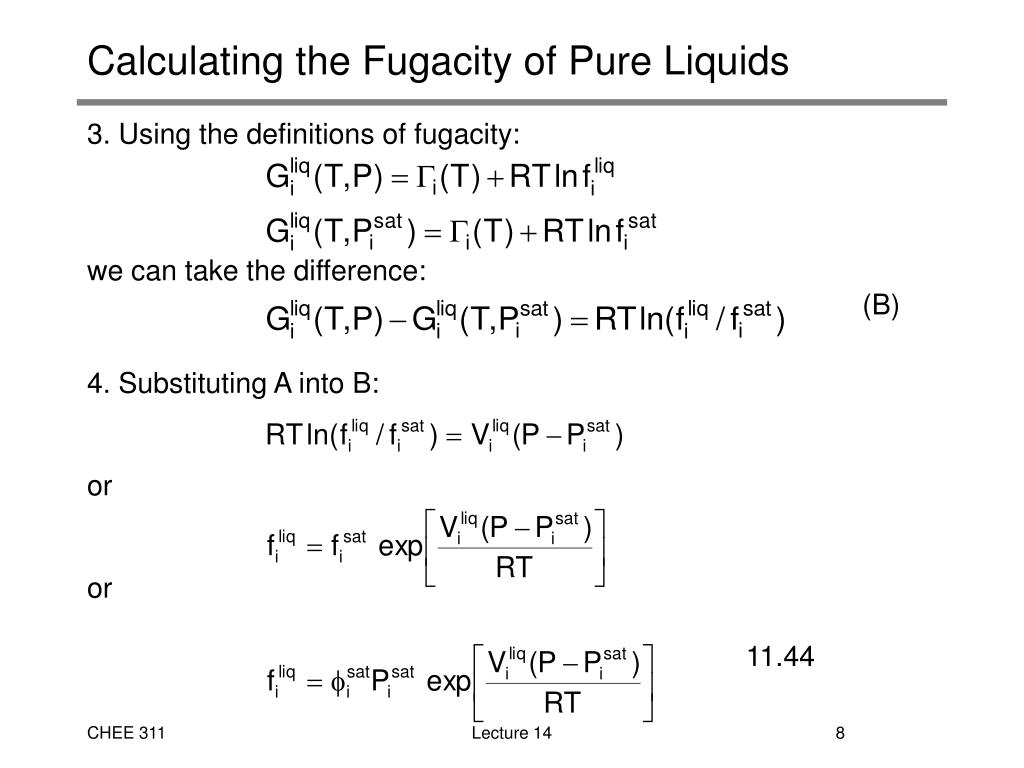 PPT - 5. Calculating Fugacity of Pure Gases PowerPoint ...