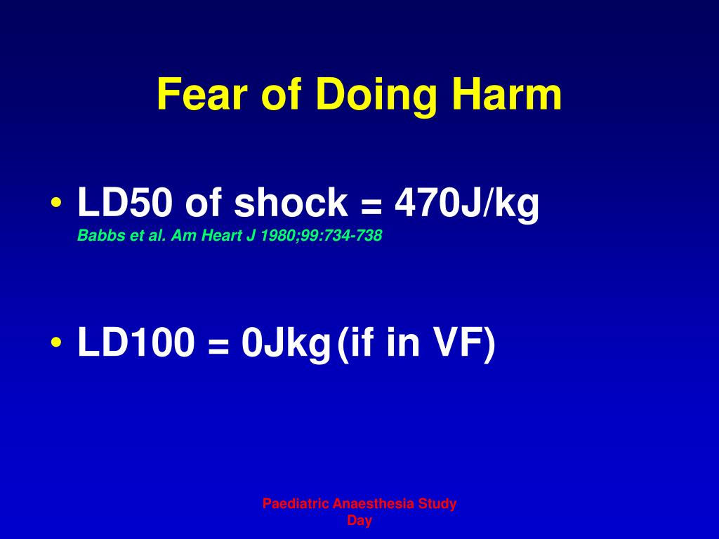 Fear of Doing Harm