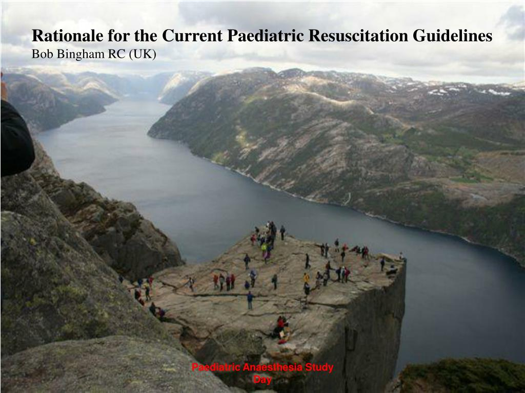 Rationale for the Current Paediatric Resuscitation Guidelines