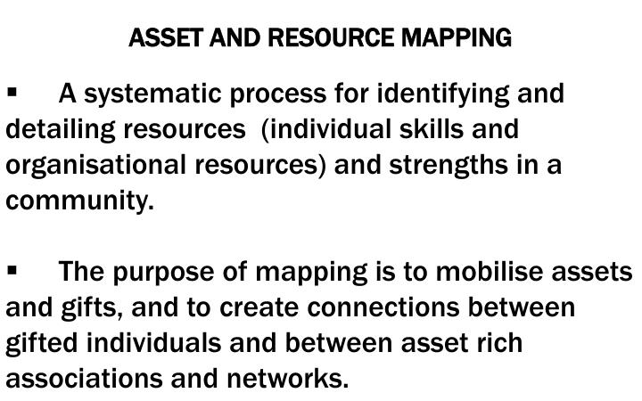ASSET AND RESOURCE MAPPING