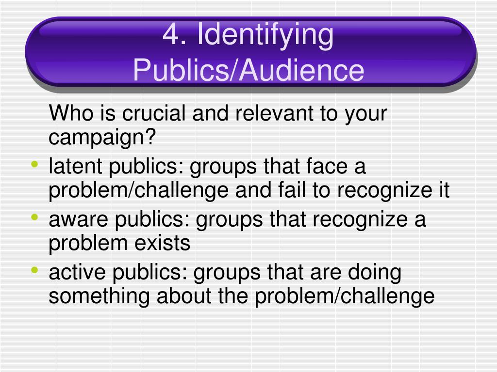 4. Identifying Publics/Audience