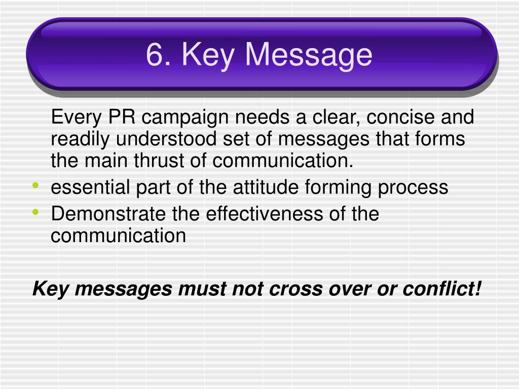 6. Key Message