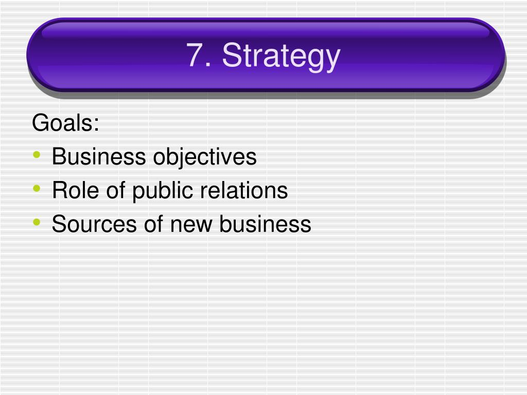 7. Strategy
