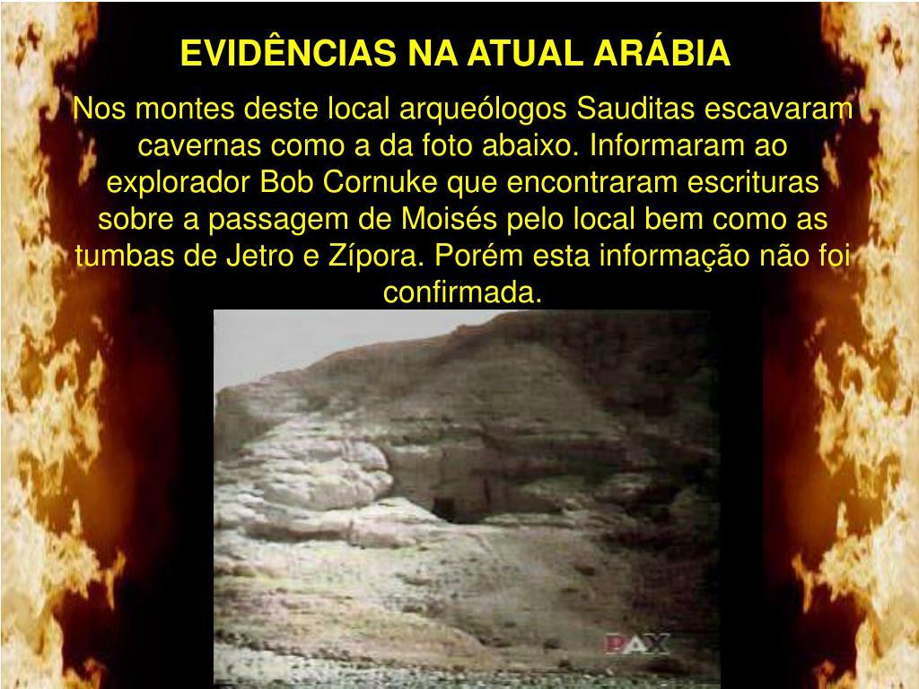 EVIDÊNCIAS NA ATUAL ARÁBIA