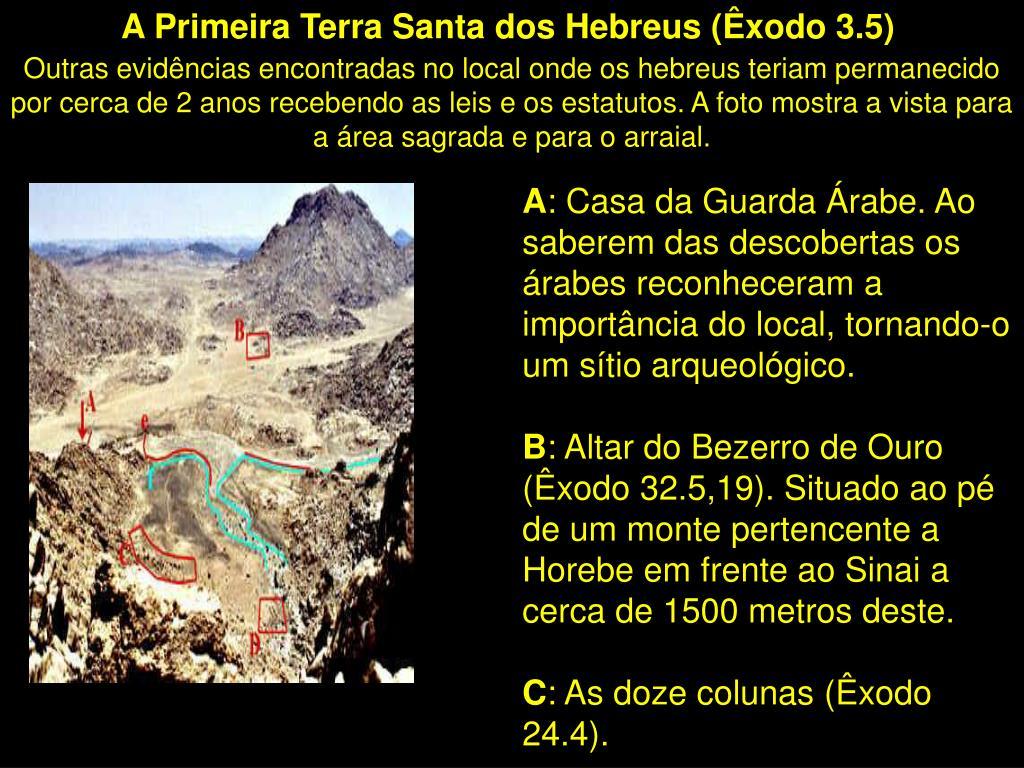 A Primeira Terra Santa dos Hebreus (Êxodo 3.5)