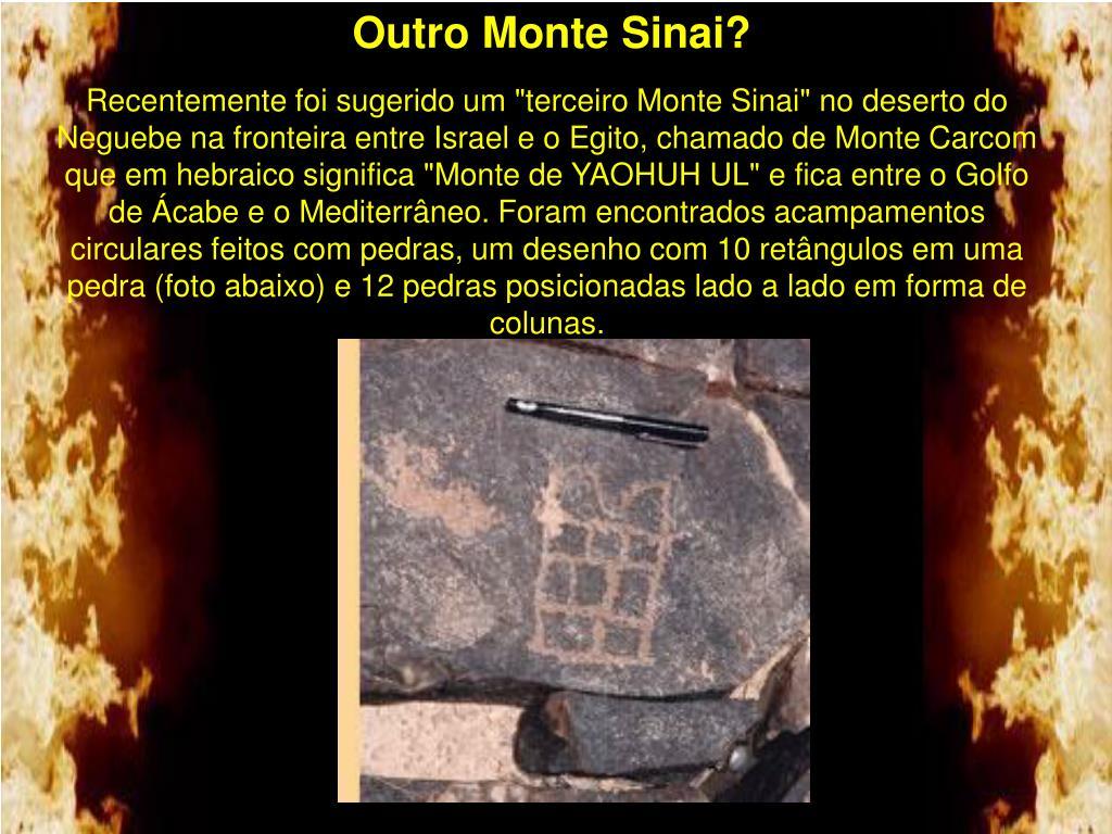Outro Monte Sinai?
