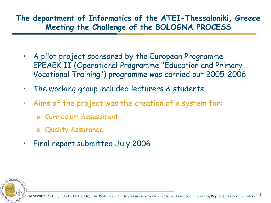The department of Informatics of the ATEI-Thessaloniki, Greece