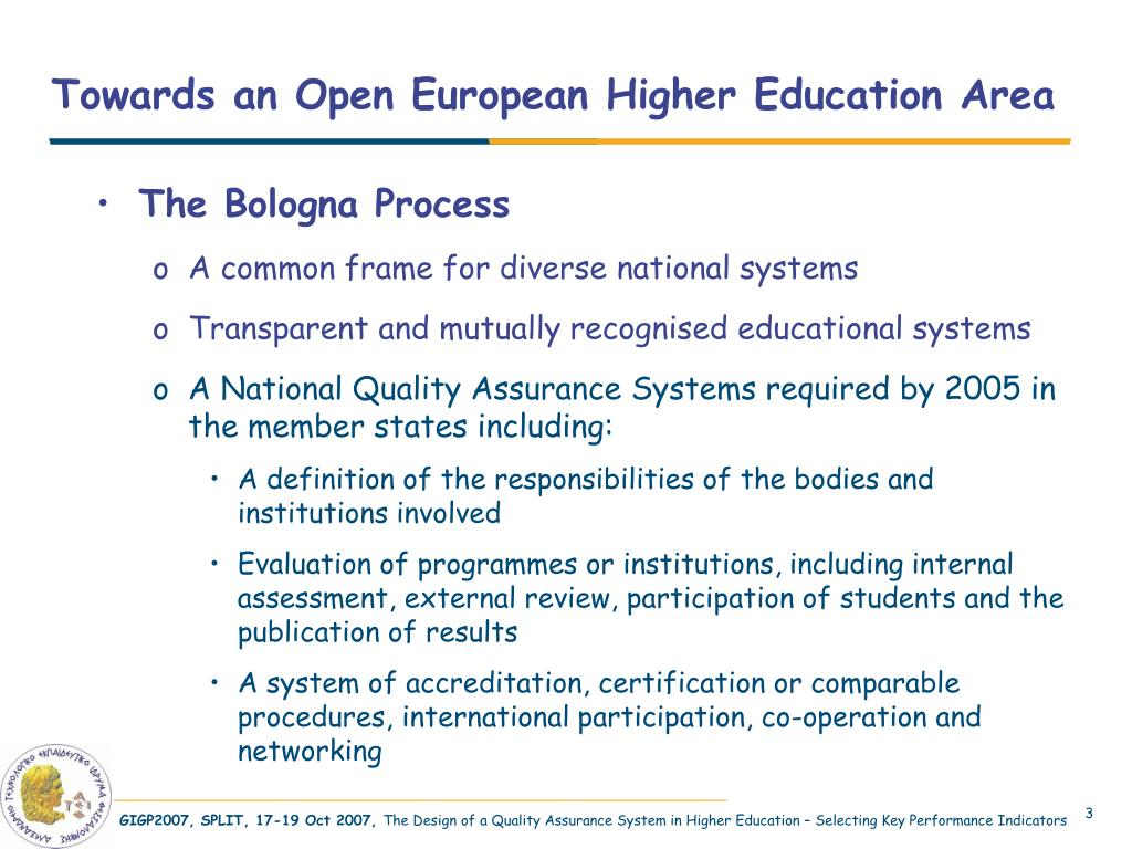 Towards an Open European Higher Education Area