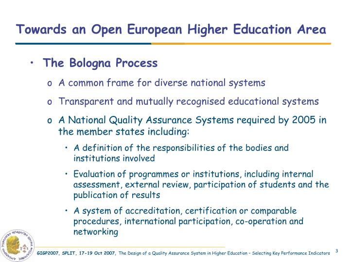 Towards an open european higher education area l.jpg