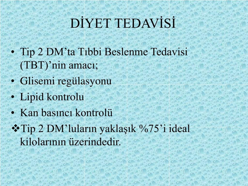 DİYET TEDAVİSİ
