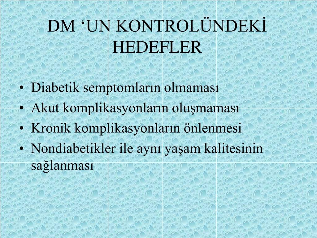 DM 'UN KONTROLÜNDEKİ HEDEFLER