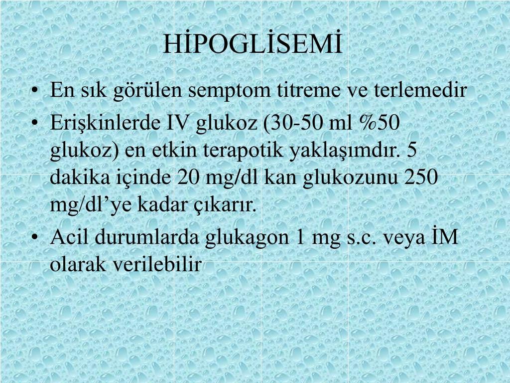 HİPOGLİSEMİ