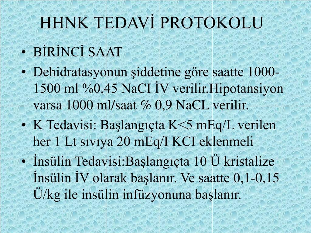 HHNK TEDAVİ PROTOKOLU