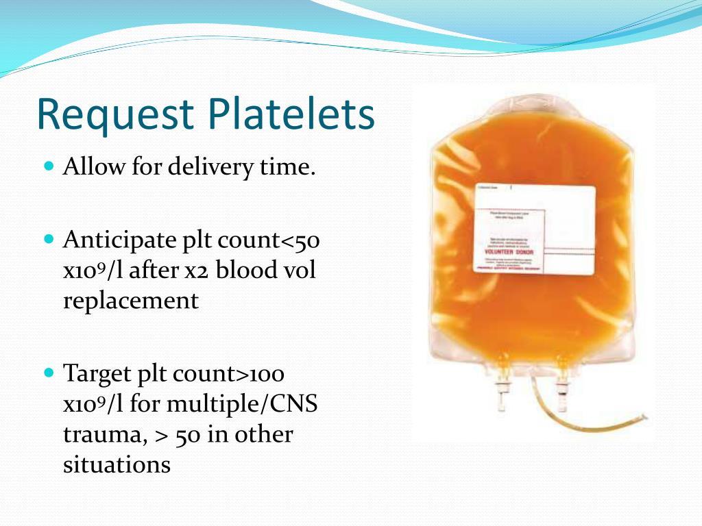 Request Platelets