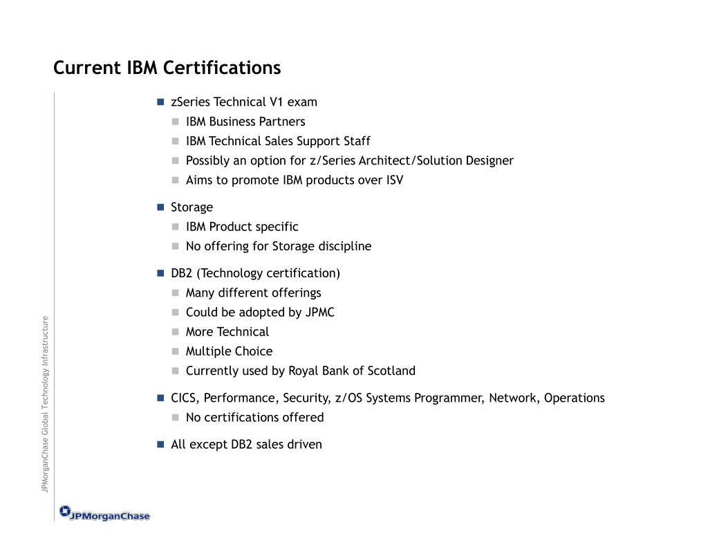 Current IBM Certifications