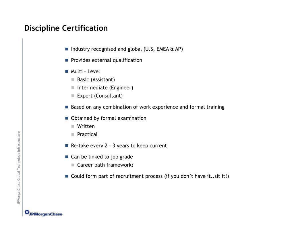Discipline Certification