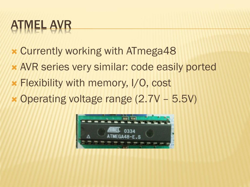 Currently working with ATmega48