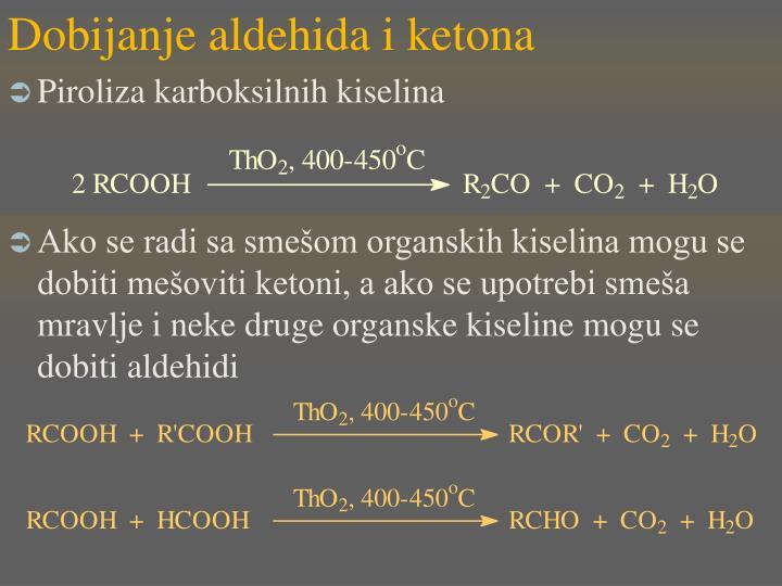 Dobijanje aldehida i ketona