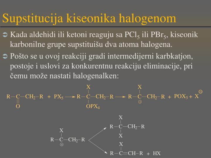 Supstitucija kiseonika halogenom