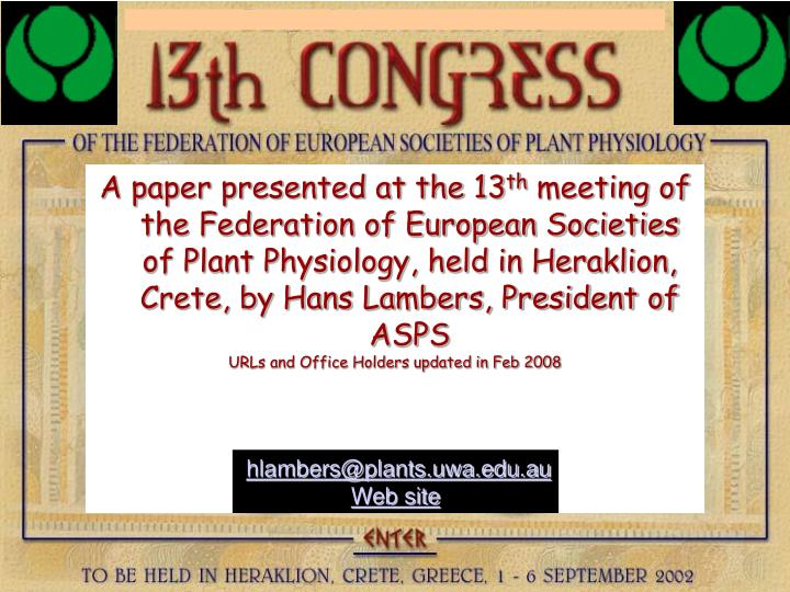 A paper presented at the 13