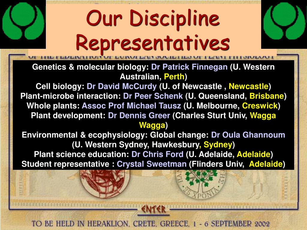Our Discipline Representatives