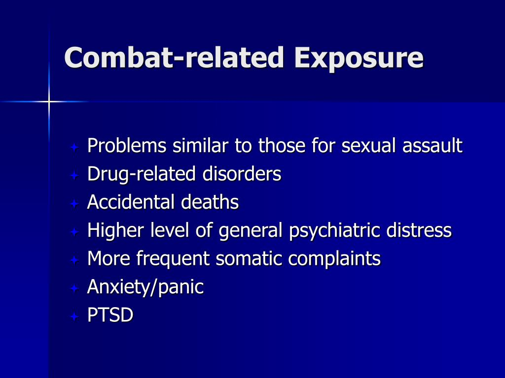 Combat-related Exposure