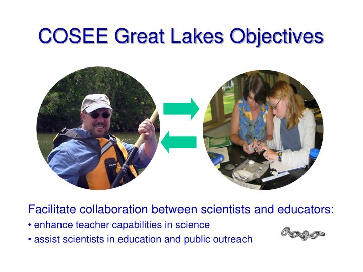 Cosee great lakes objectives