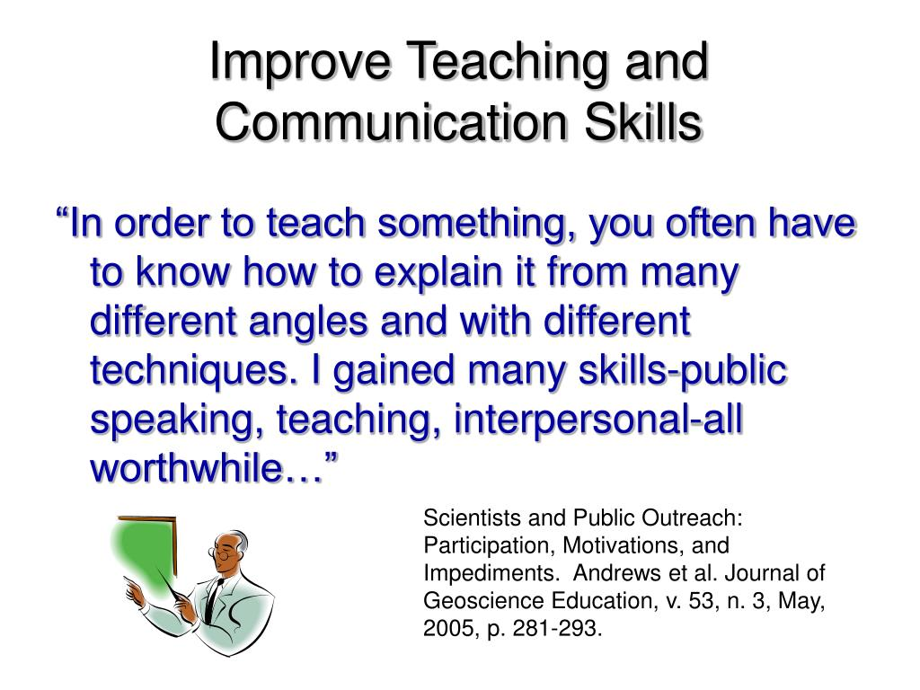 Improve Teaching and Communication Skills