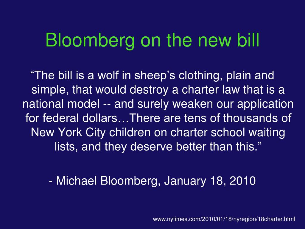 Bloomberg on the new bill
