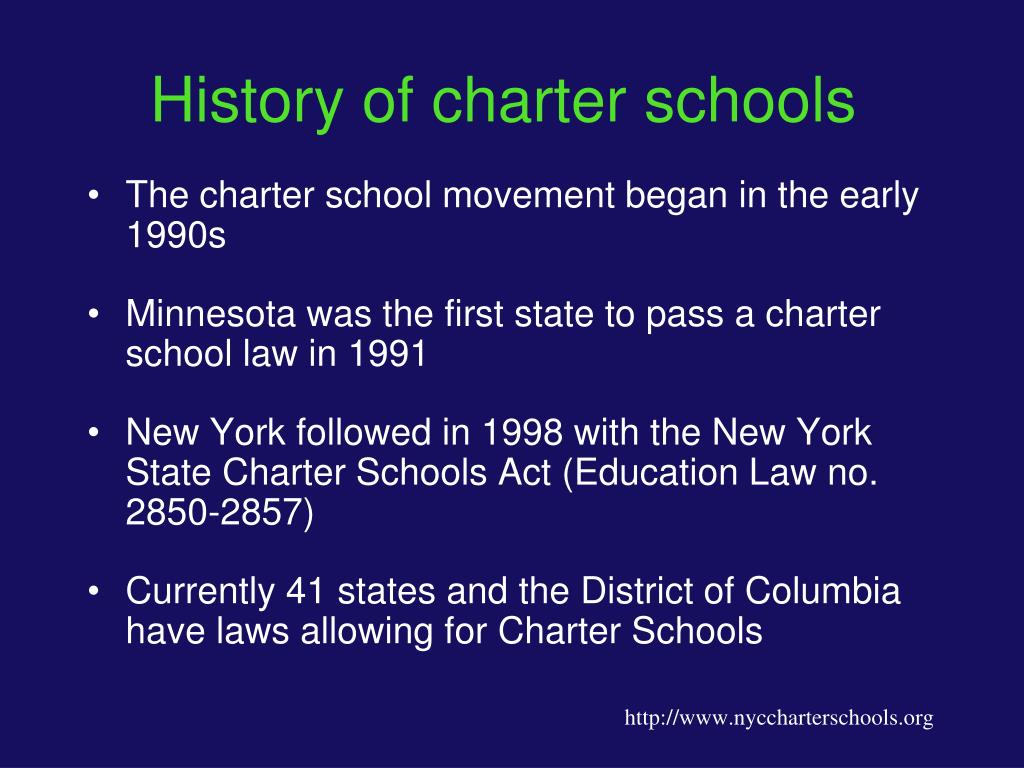 History of charter schools